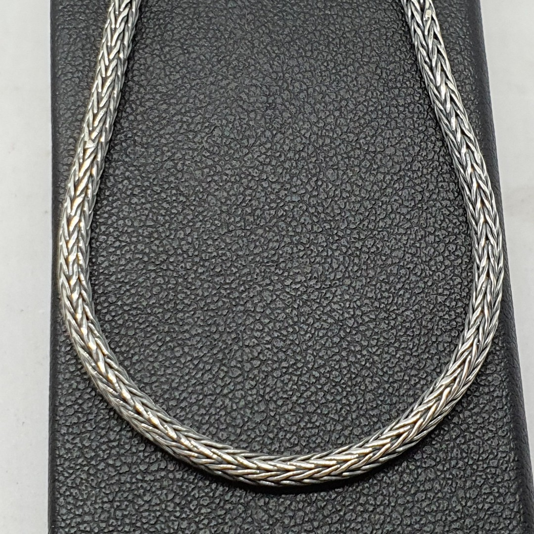 Sterling silver heavy rope chain, 45cms long image 1