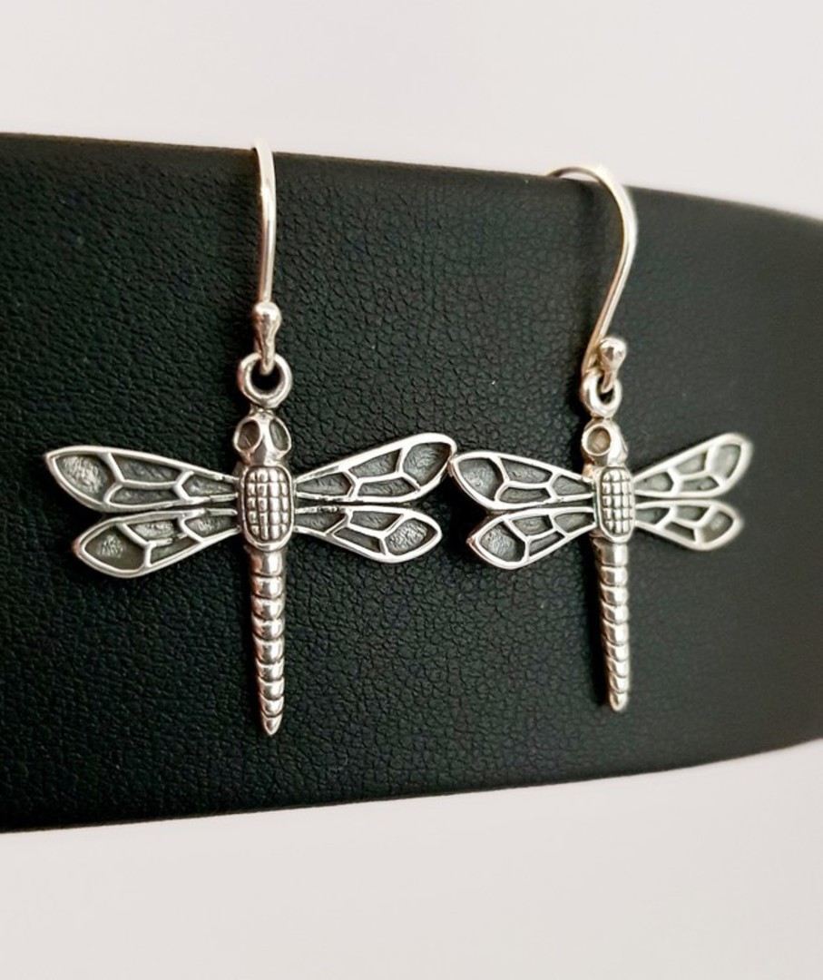Sterling silver dragonfly earrings image 0
