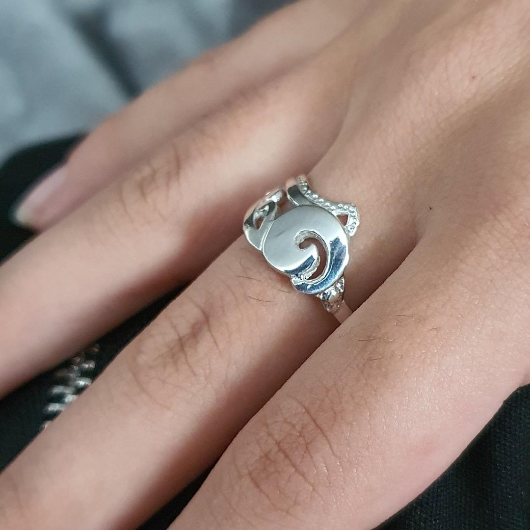 Sterling silver koru ring, made in NZ image 1
