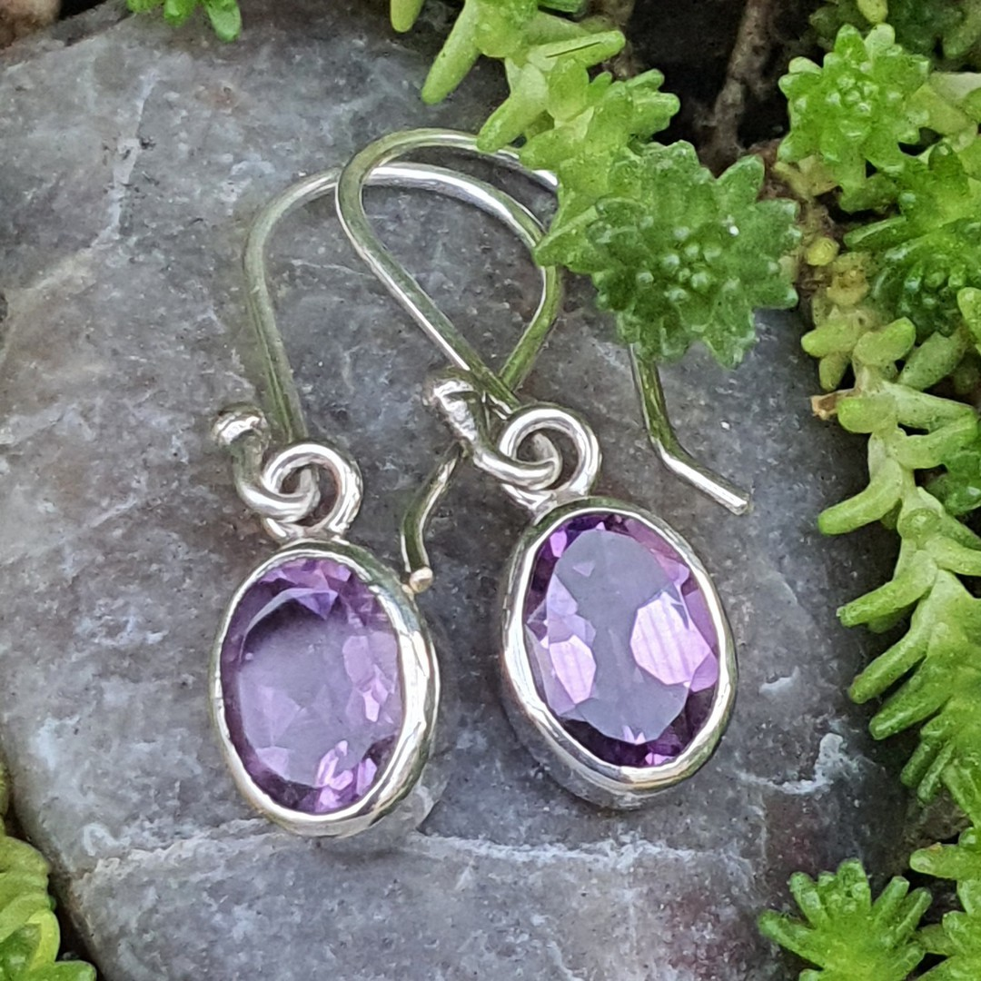 Silver Amethyst Earrings | The Power of Purple image 1