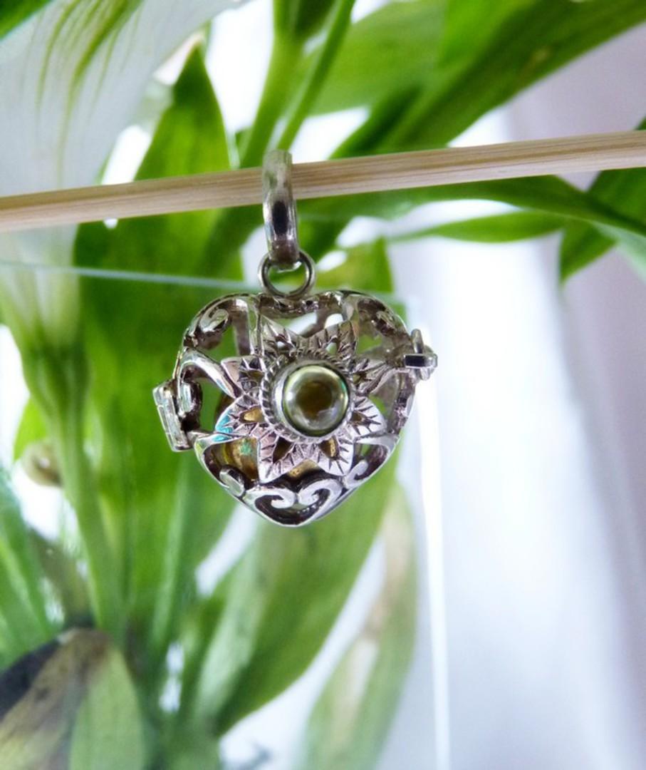 Sterling silver filigree meditation ball pendant image 3