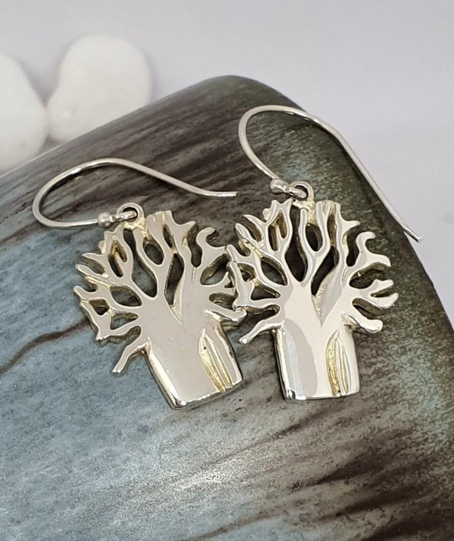 Sterling silver 925 tree of life earrings image 0