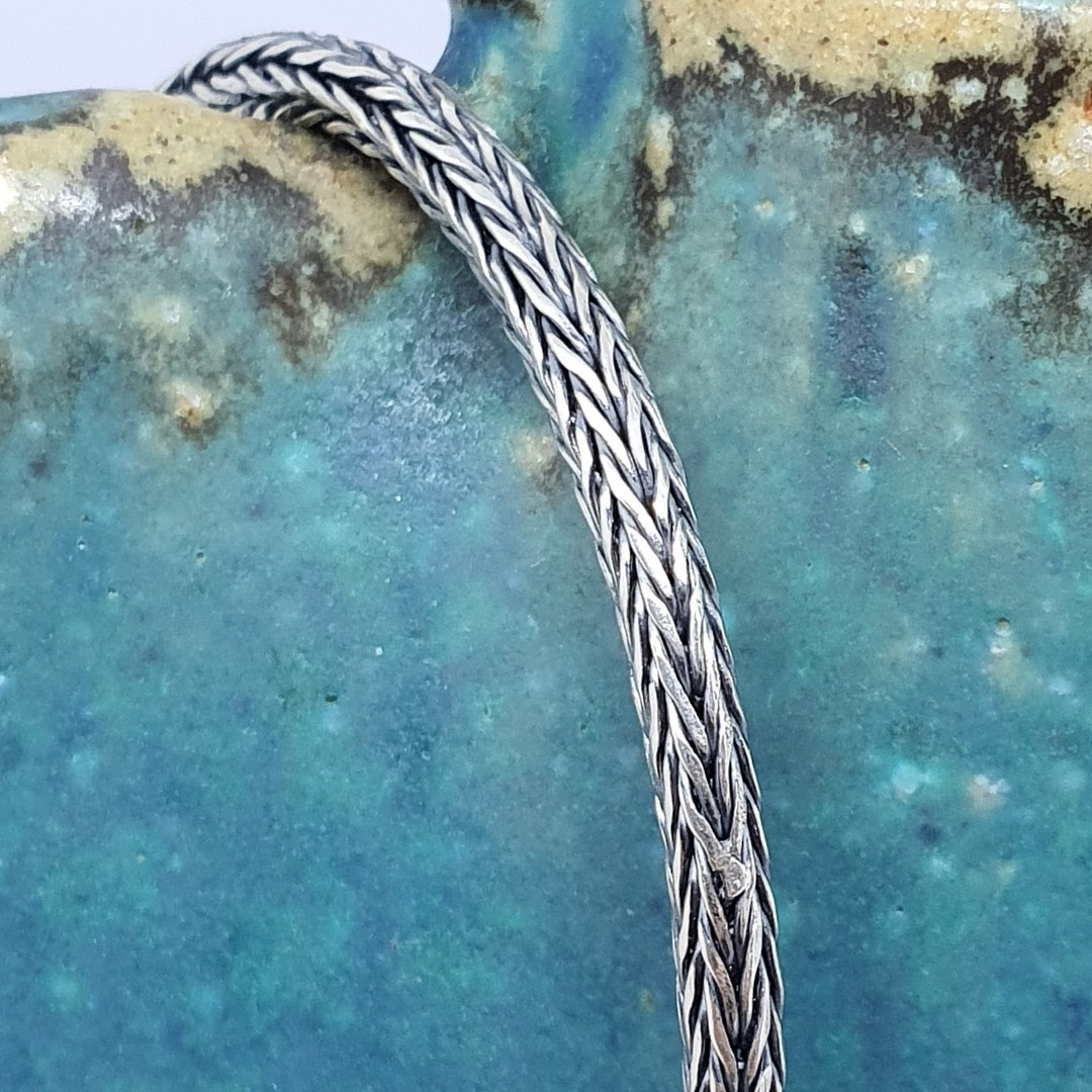 Sterling silver heavy rope chain, 50cms long image 2