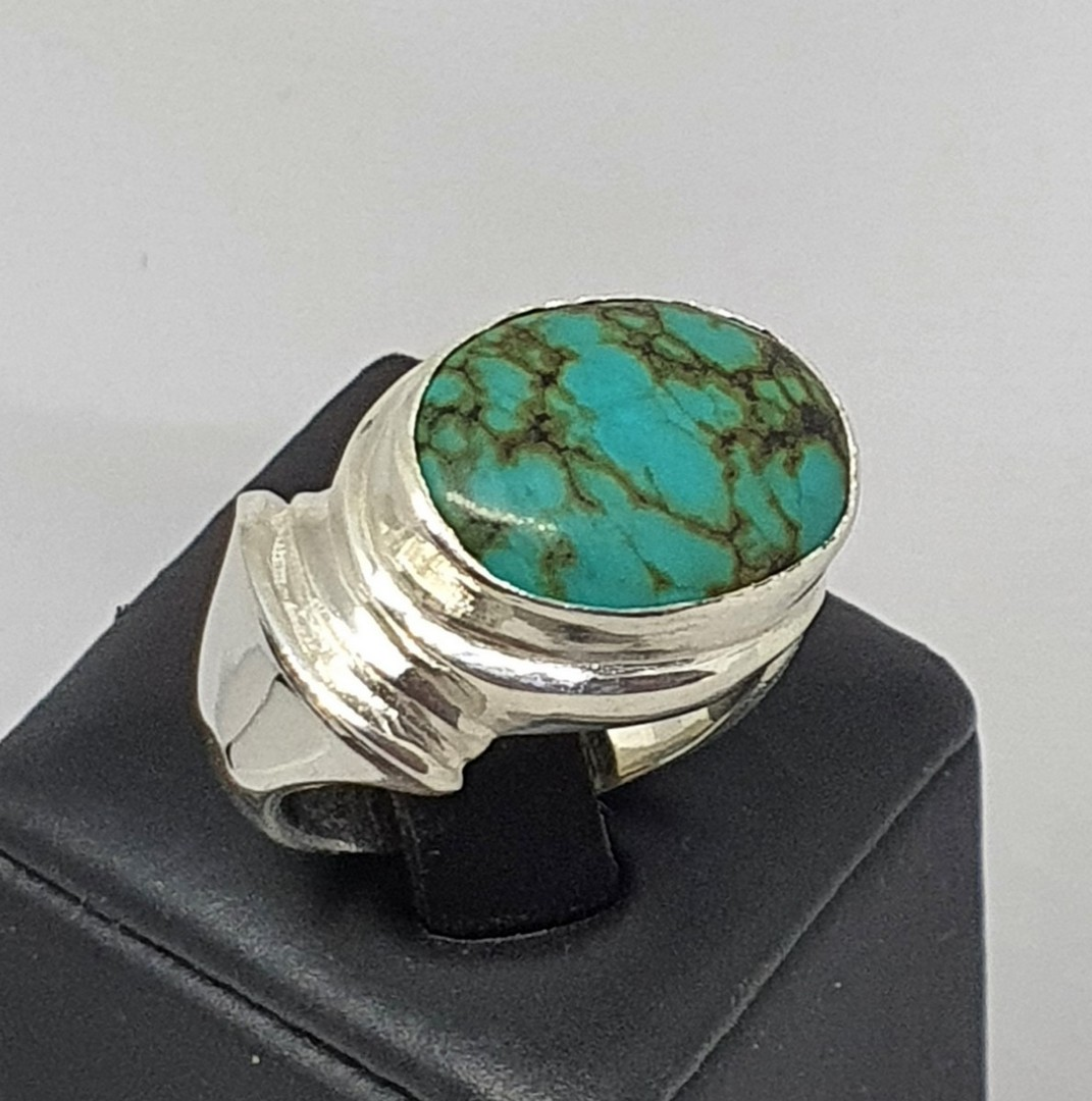 Sterling silver turquoise ring, gorgeous design, NZ made image 2