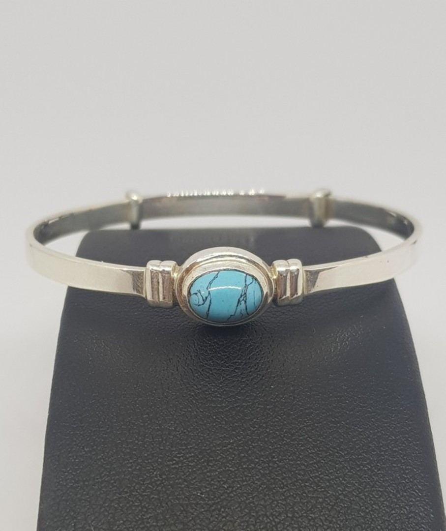 Turquoise Birthstone Baby Bangle for Miss December image 1