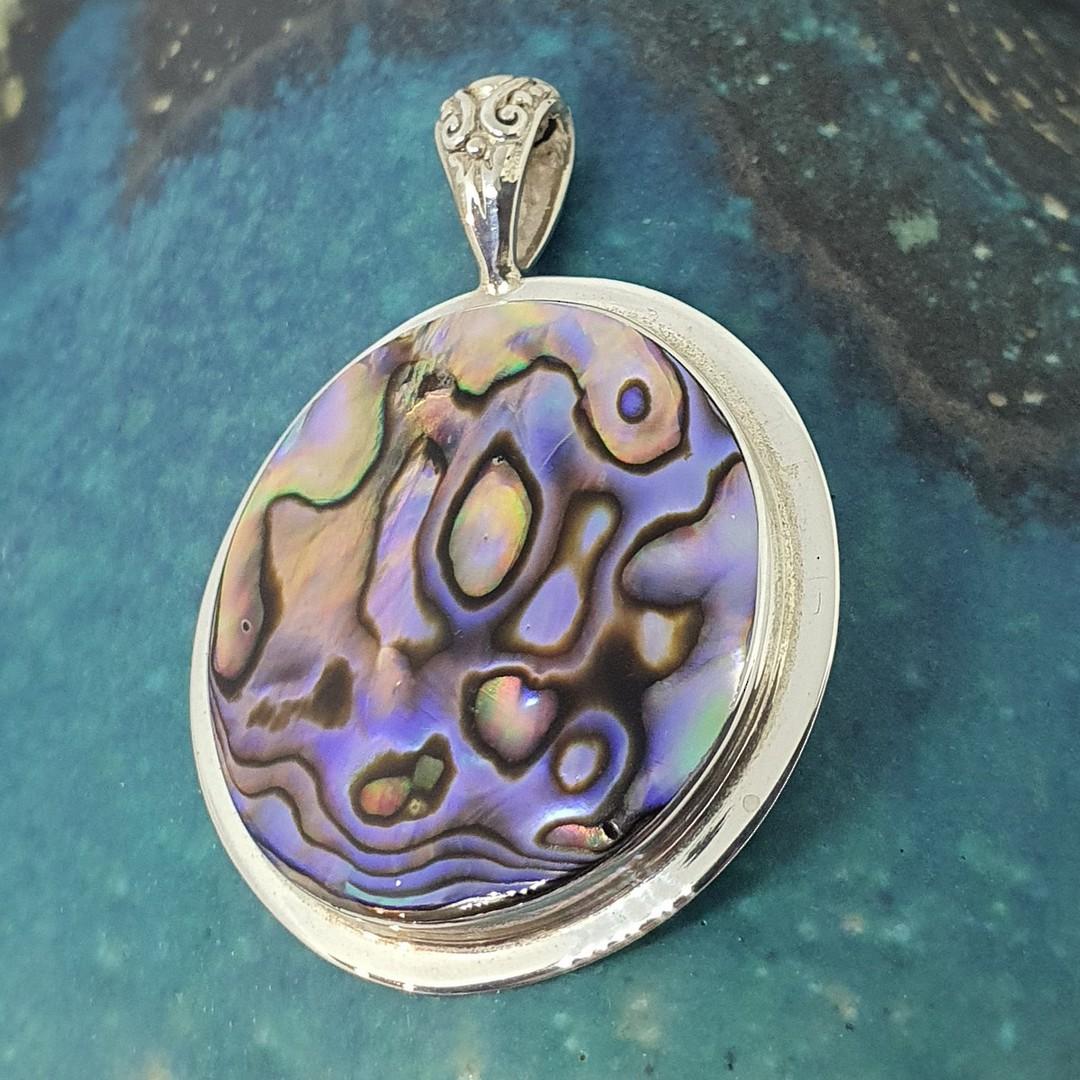 NZ Paua Shell Pendant image 1