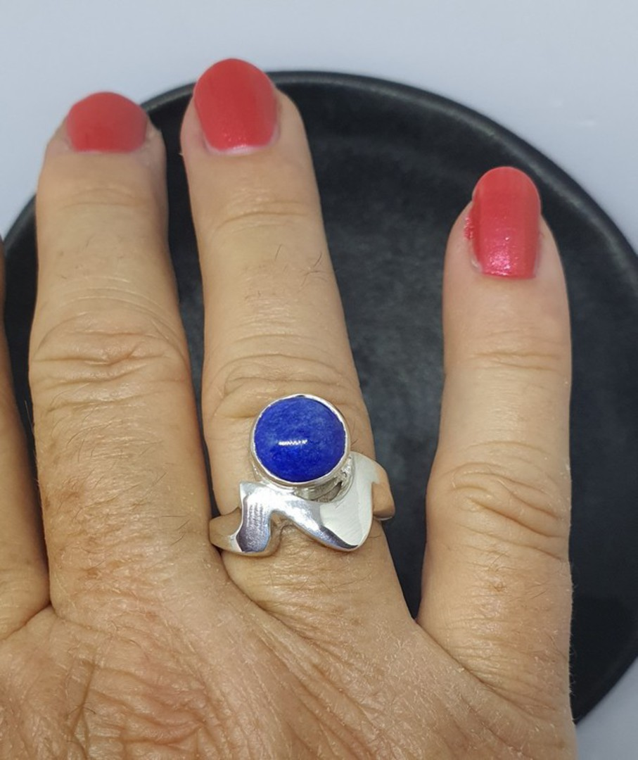 Sterling silver lapis lazuli ring, made in NZ image 1