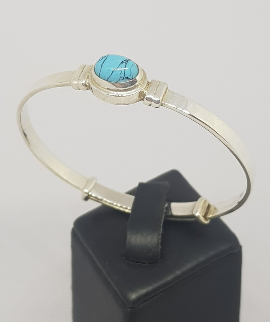 Turquoise Birthstone Baby Bangle for Miss December image 0