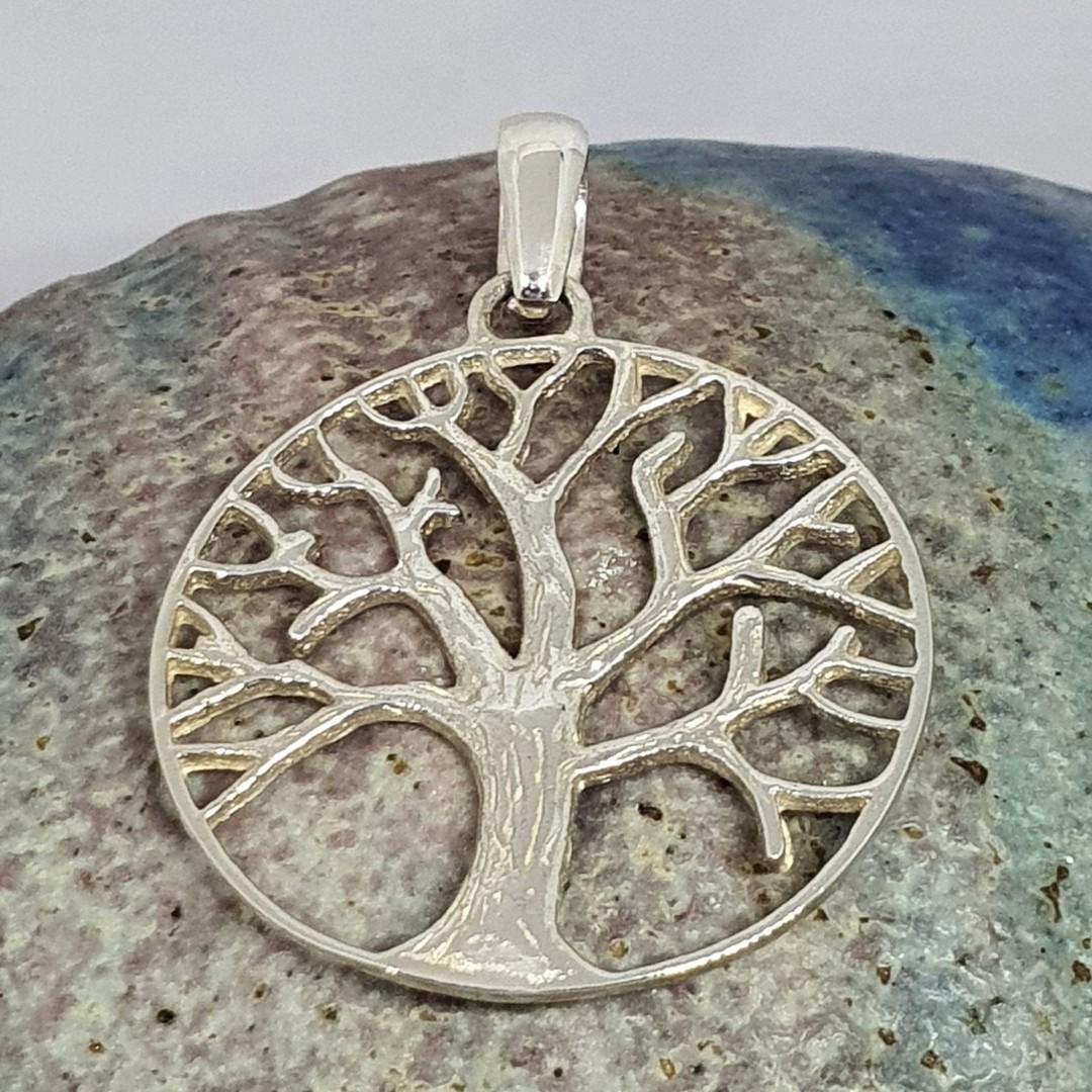 Silver tree of life pendant image 1