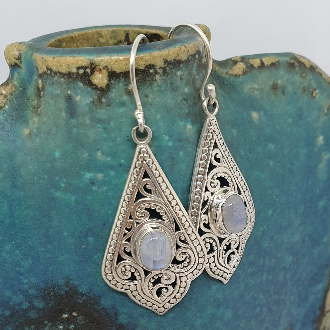 Moonstone earrings image 1