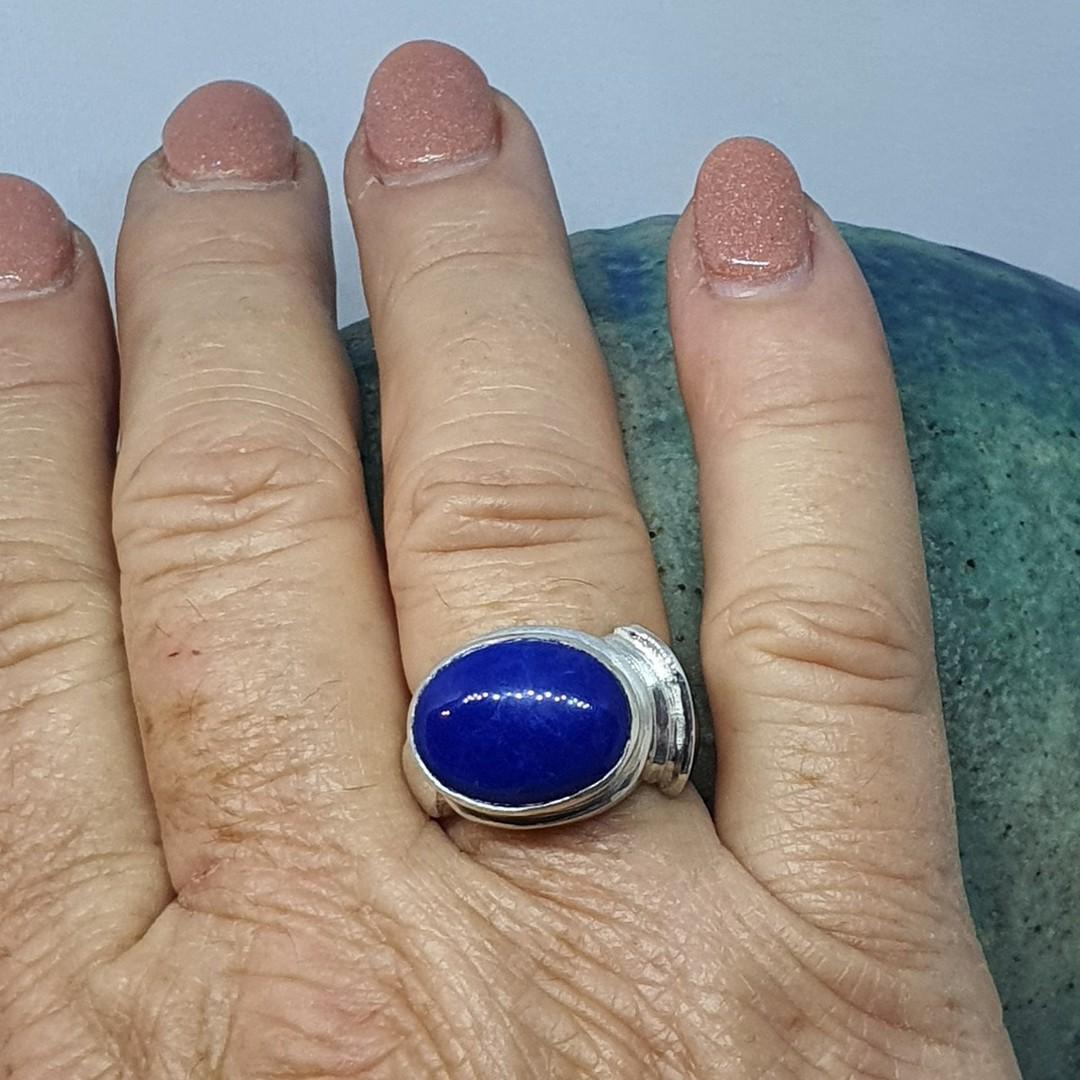 Sterling silver lapis lazuli ring image 4