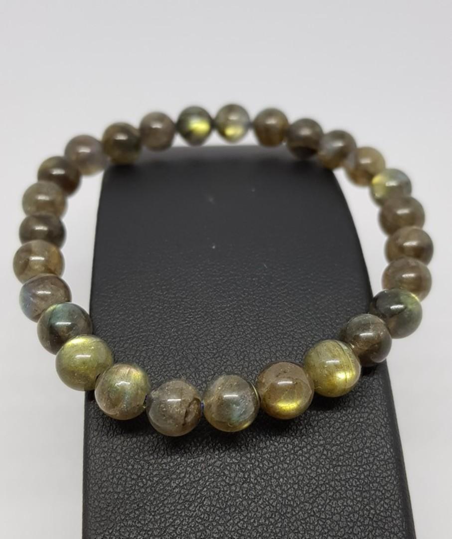 Natural labradorite beaded bracelet image 1