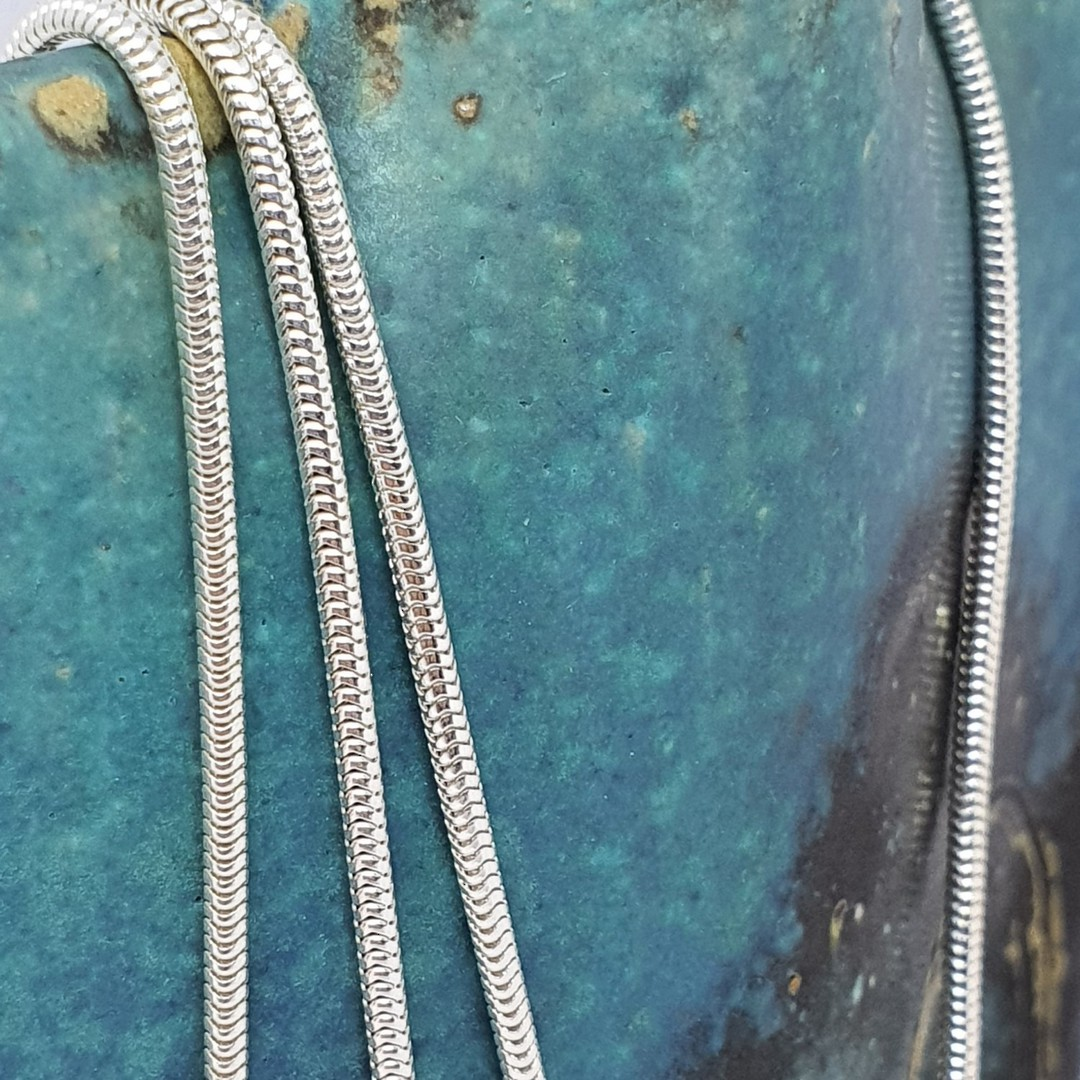 Sterling silver heavy snake chain, 60cms long image 1