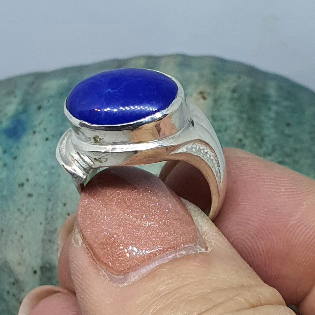 Sterling silver lapis lazuli ring image 3