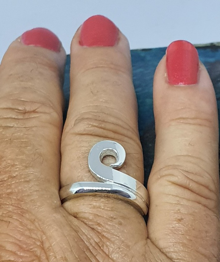 NZ made 925 silver koru ring image 5