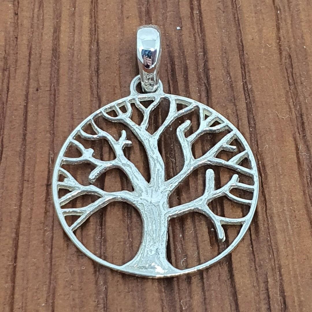 Silver tree of life pendant image 0