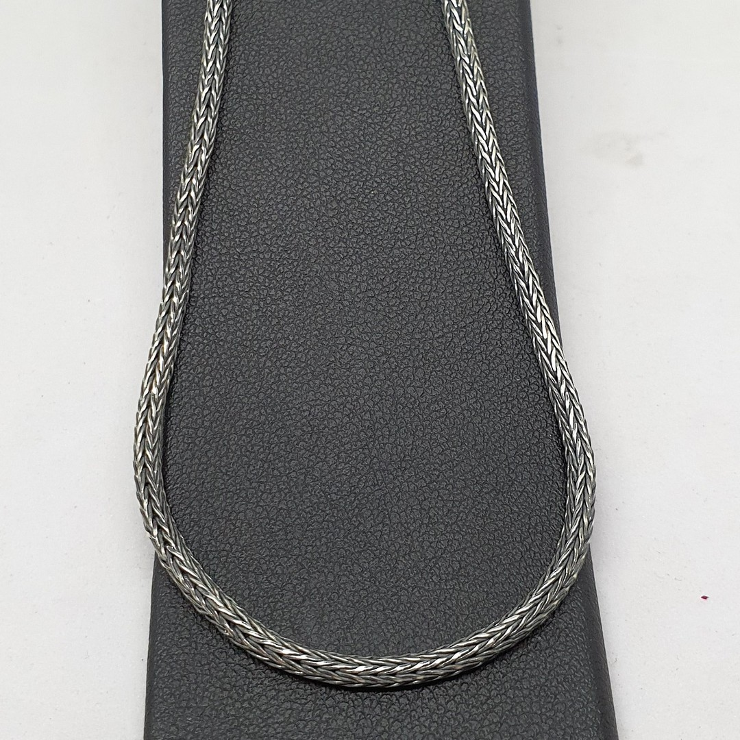 Sterling silver rope chain, 60cms long image 0