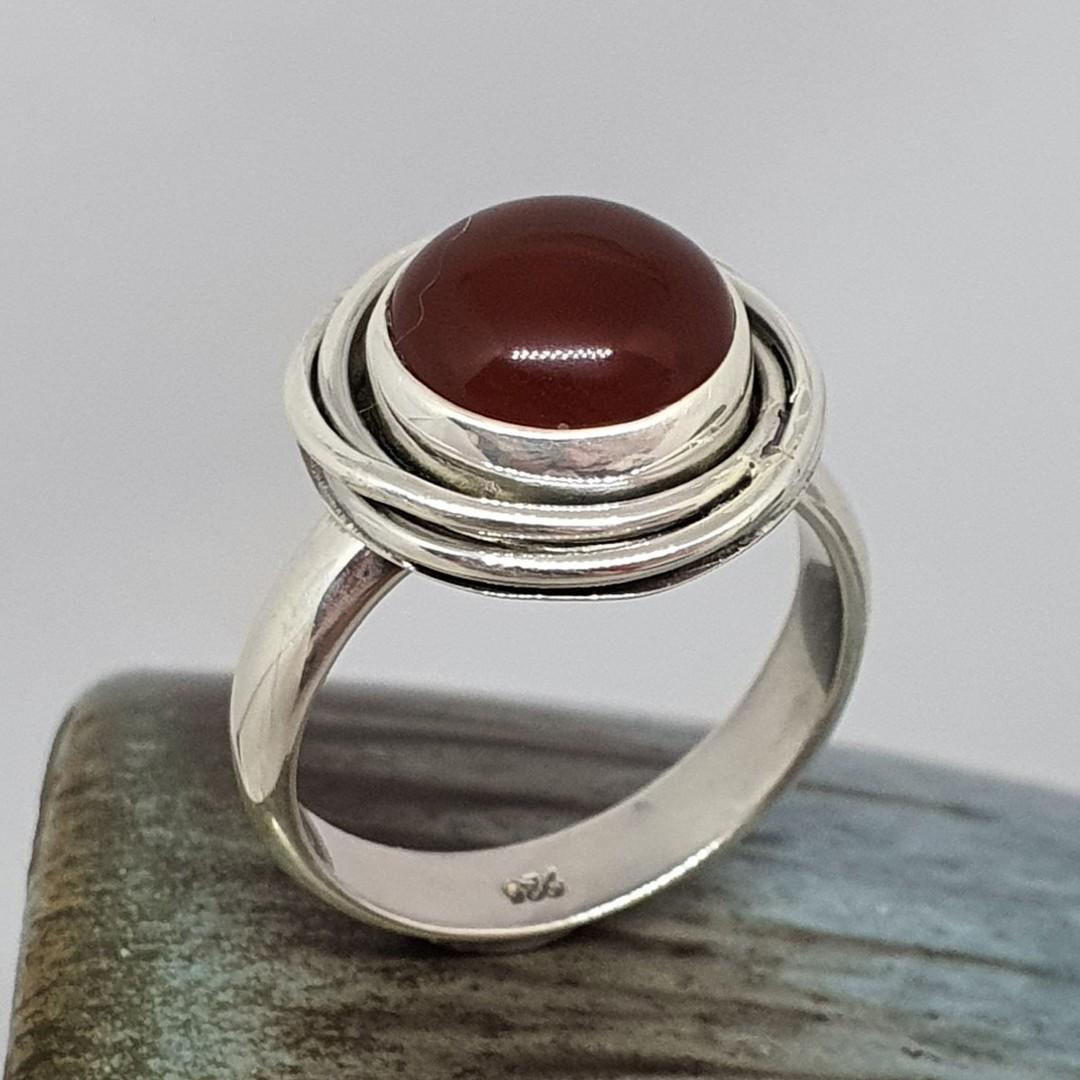 Silver carnelian ring image 0