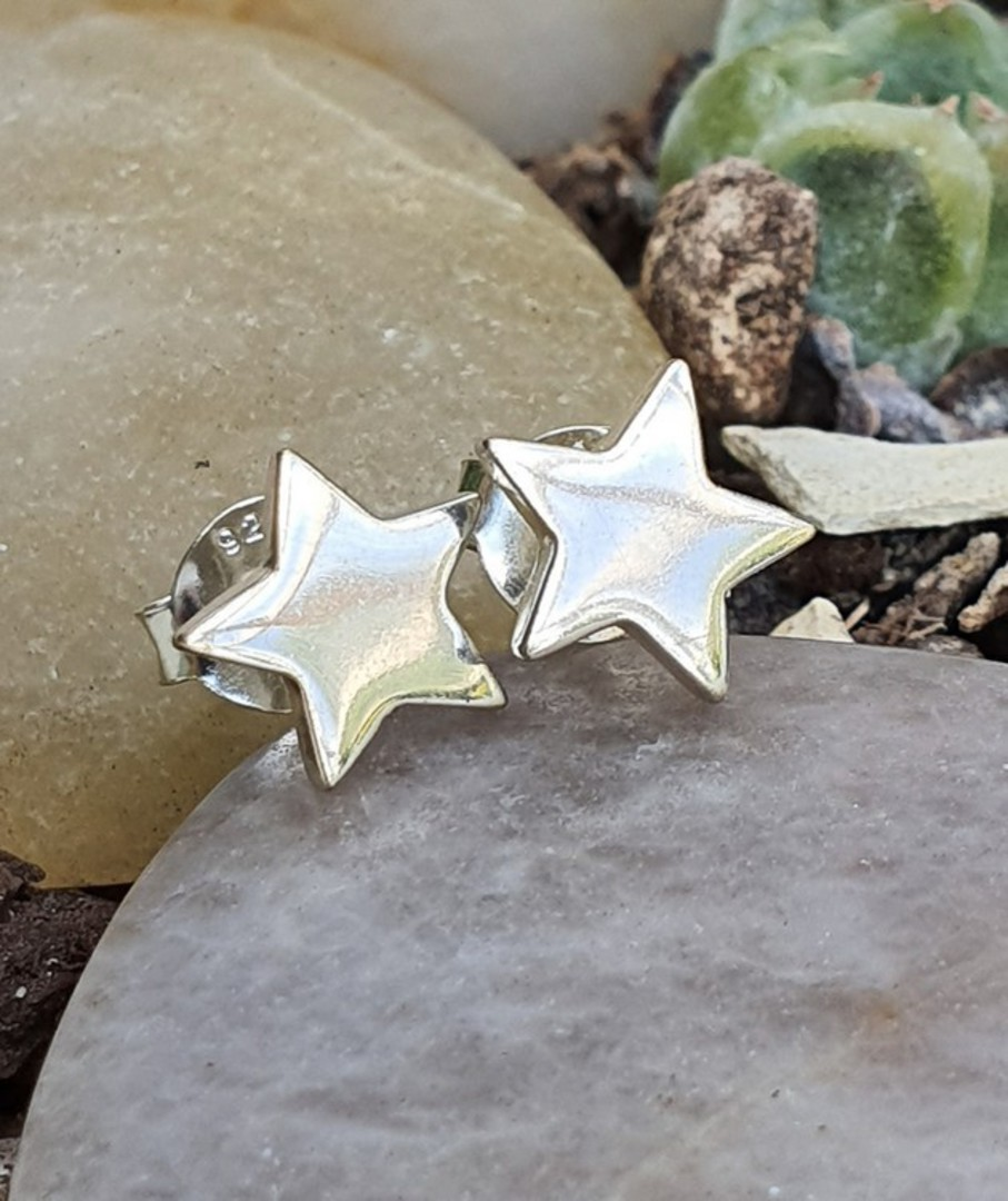 Sterling silver star stud earrings image 0
