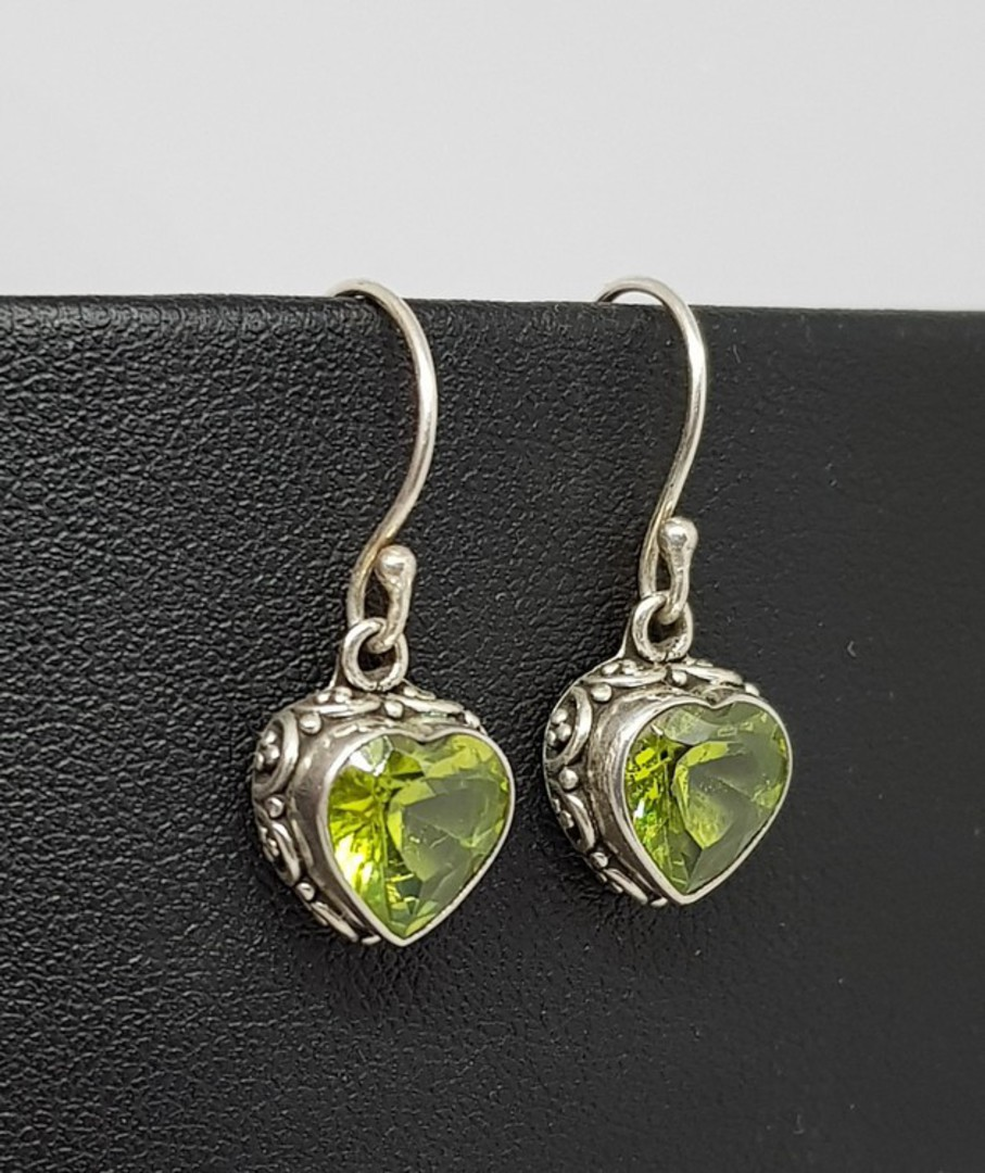 Silver Peridot Earrings! image 0