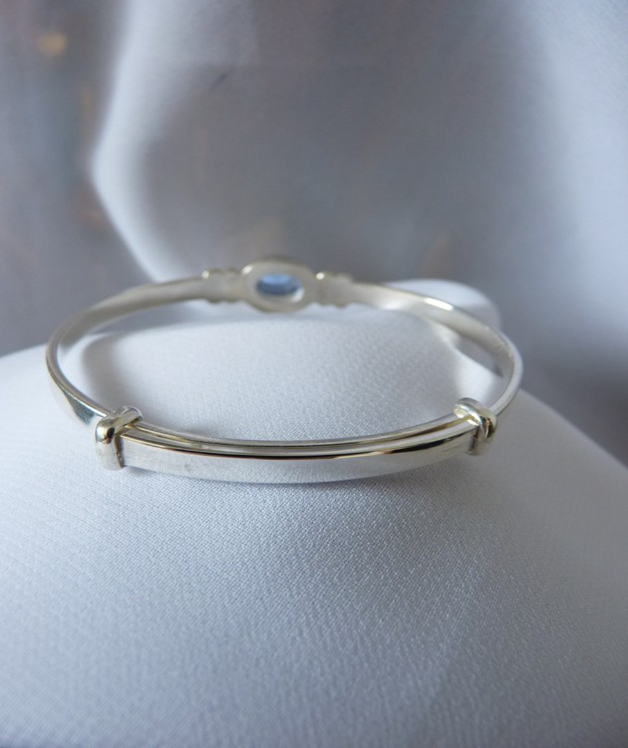 Happy birthday Miss November OR December - Baby birthstone bangle image 2