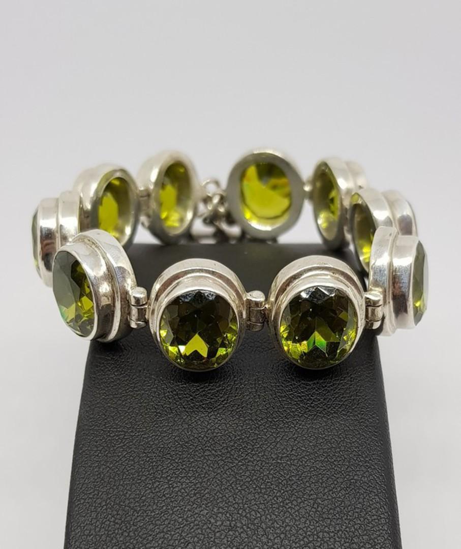 Gorgeous Sterling Silver Peridot Bracelet image 0