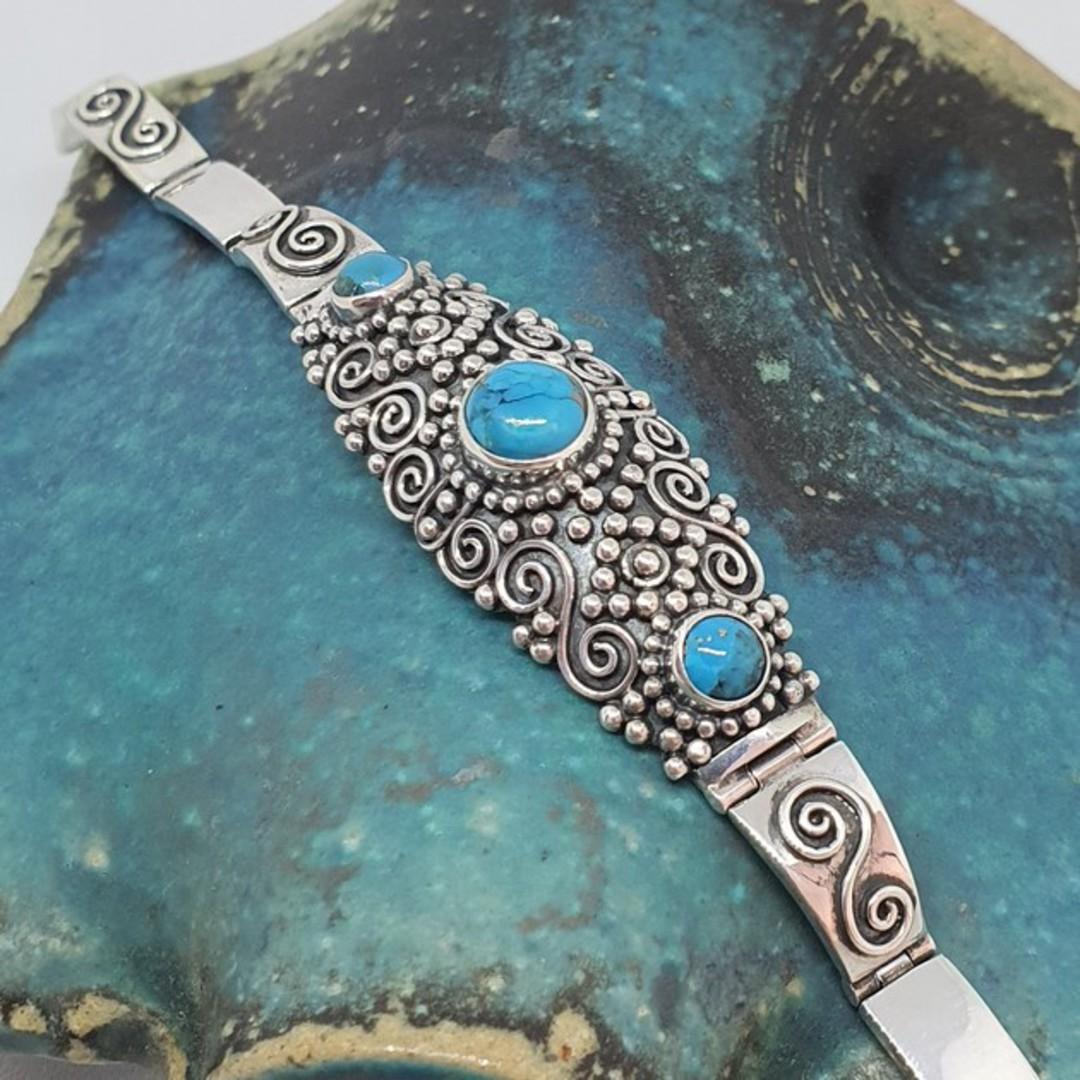 Sterling silver turquoise bracelet image 4