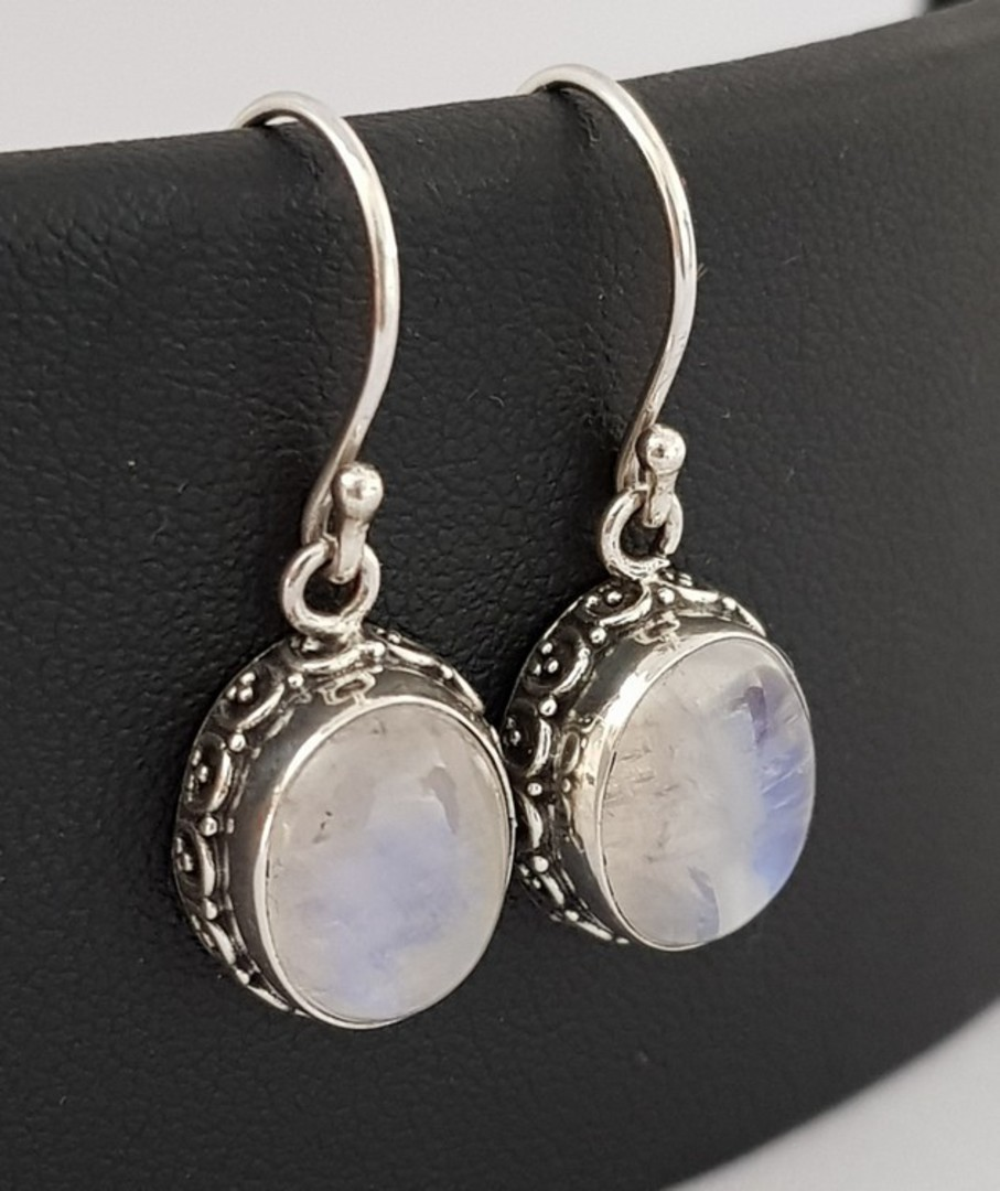 Moonstone earrings with stunning filigree frame image 0