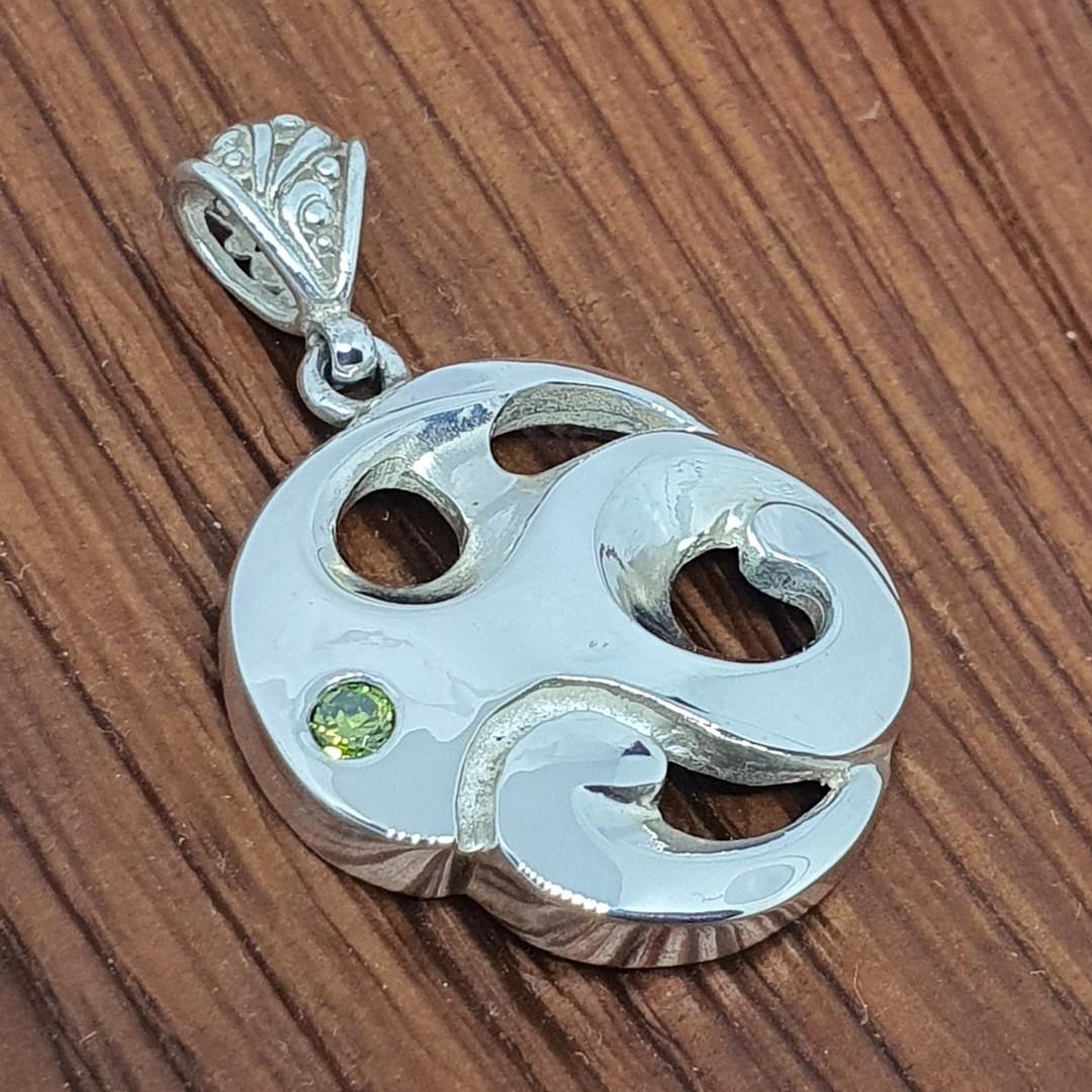 Made in NZ silver koru inspired pendant image 0