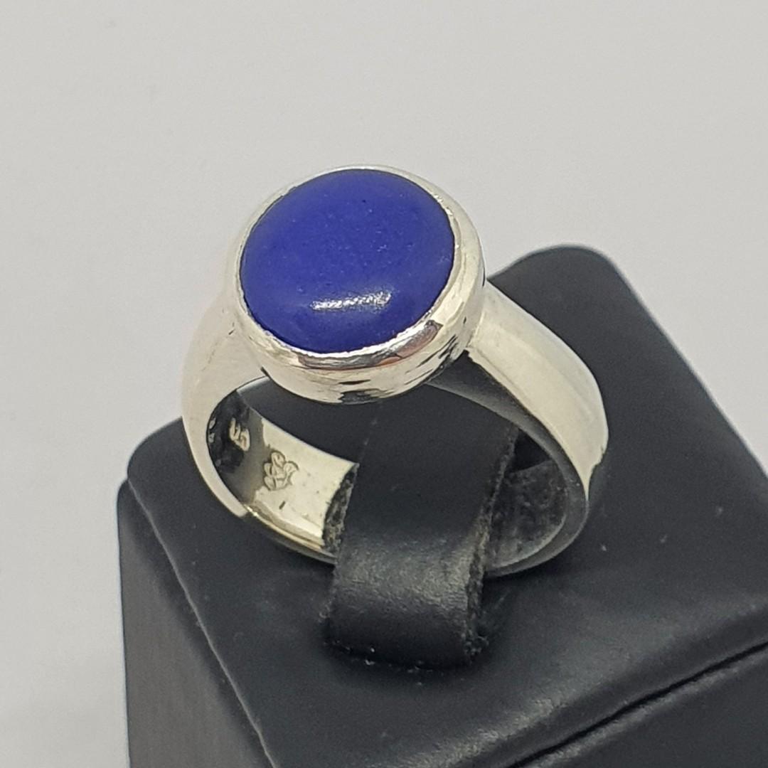Sterling silver lapis lazuli gemstone ring, made in NZ image 0