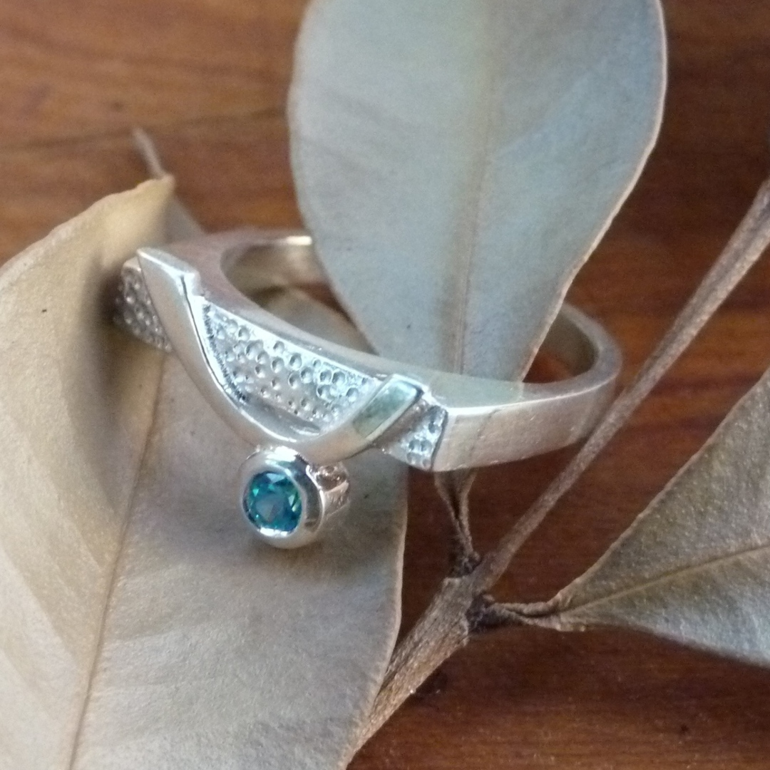 Blue topaz silver ring image 0
