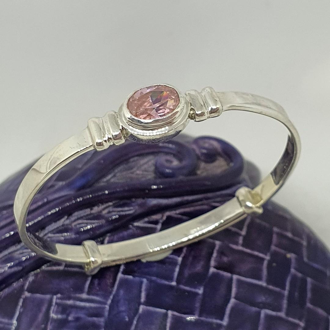 Happy Birthday Miss October - birthstone baby bracelet image 0