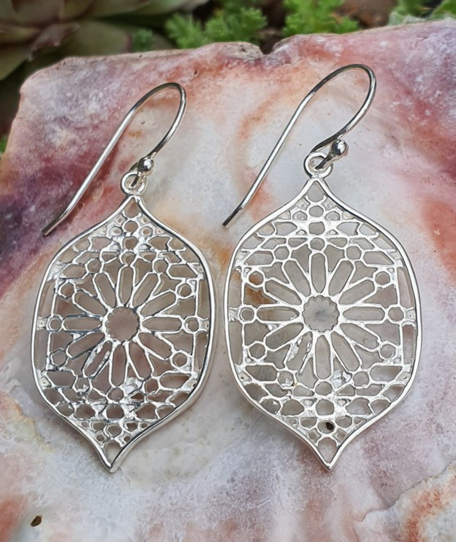 Sterling silver statement flower earrings image 2