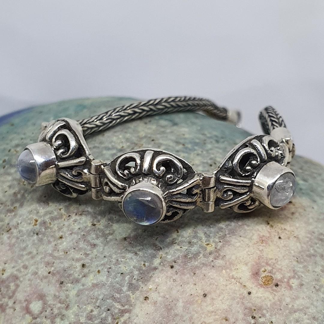 Delicate moonstone gemstone bracelet image 0