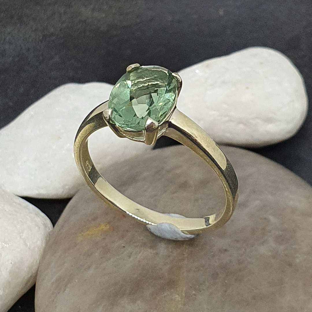 Sterling silver green fluorite ring image 0