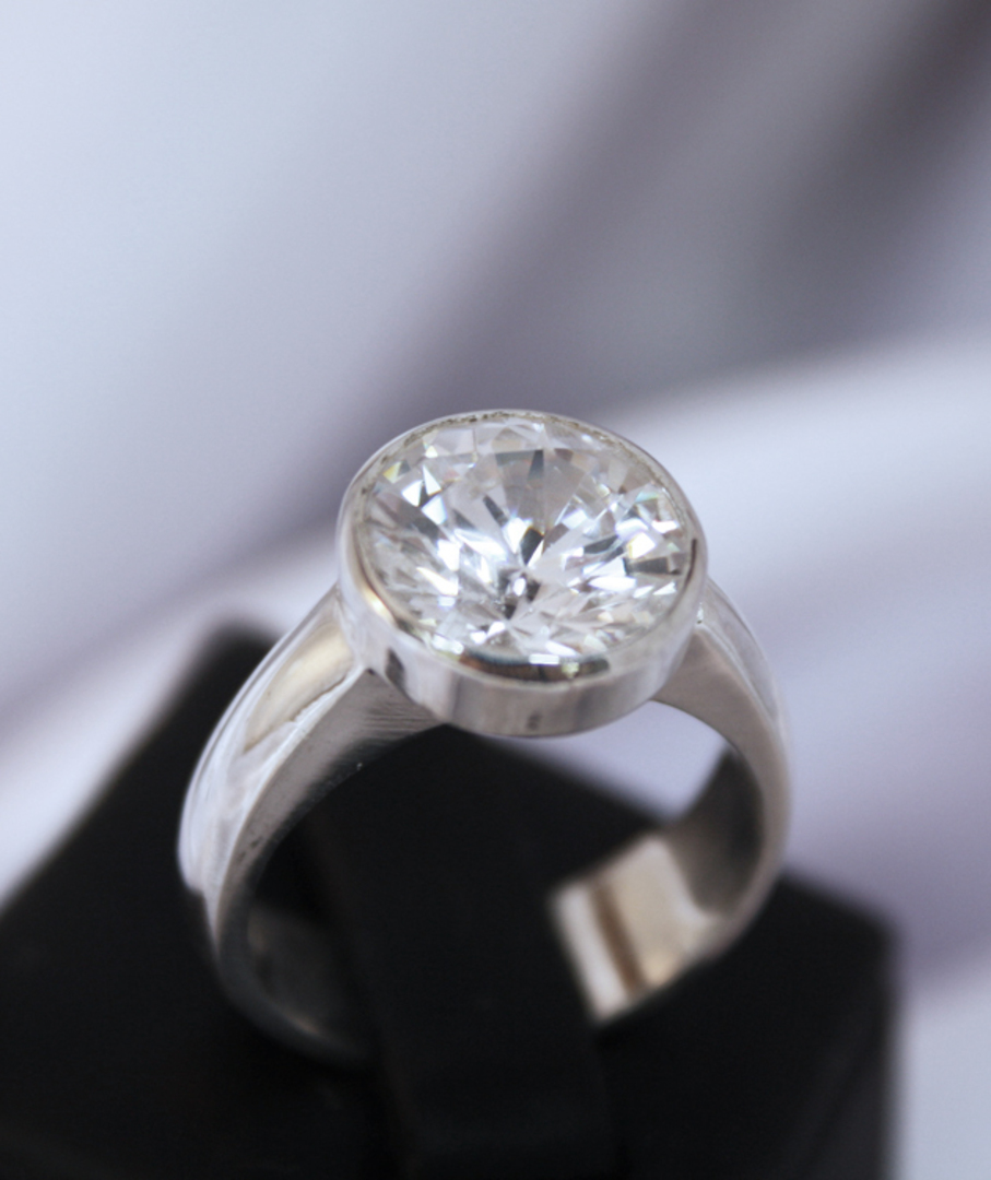 Sterling silver cubic zirconia ring | Bring the BLING image 0