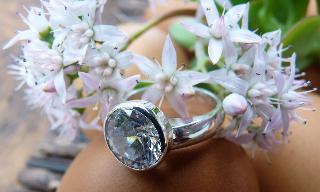 Sterling silver cubic zirconia ring | Bring the BLING image 1