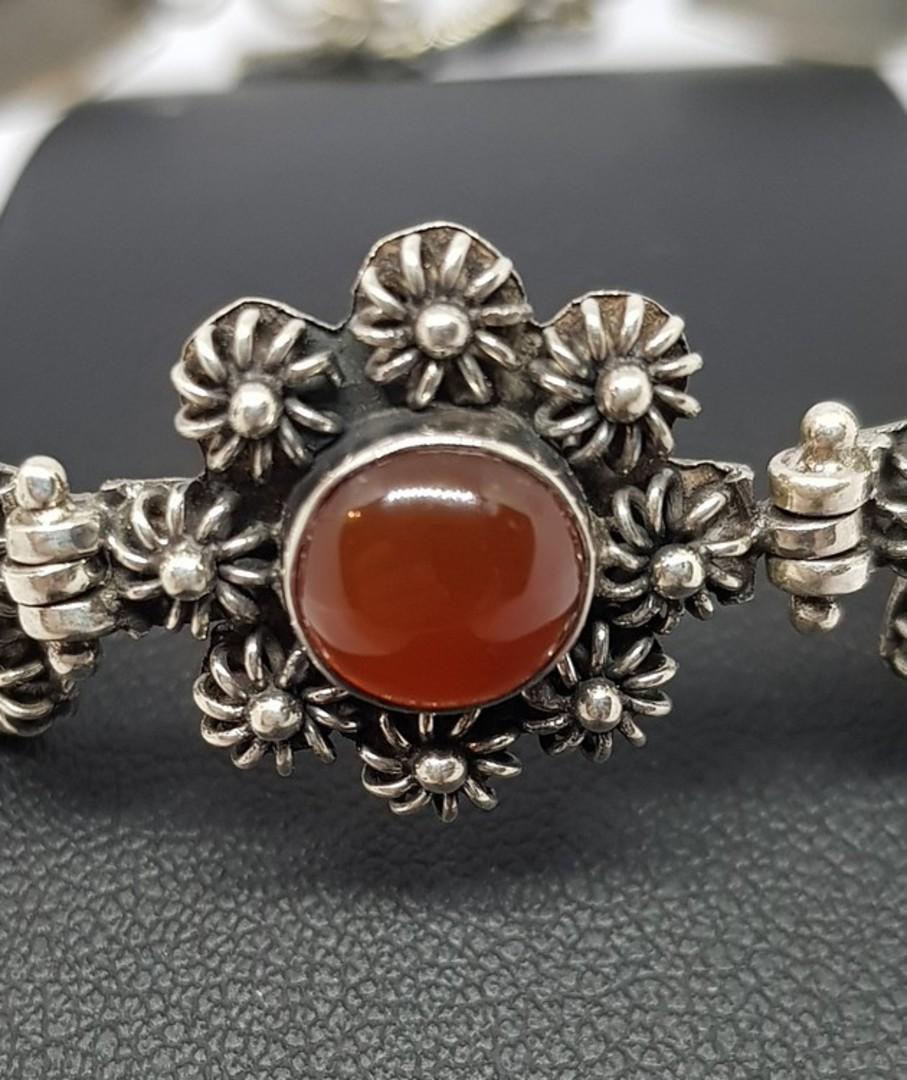 Sterling silver carnelian bracelet - price reduced image 2