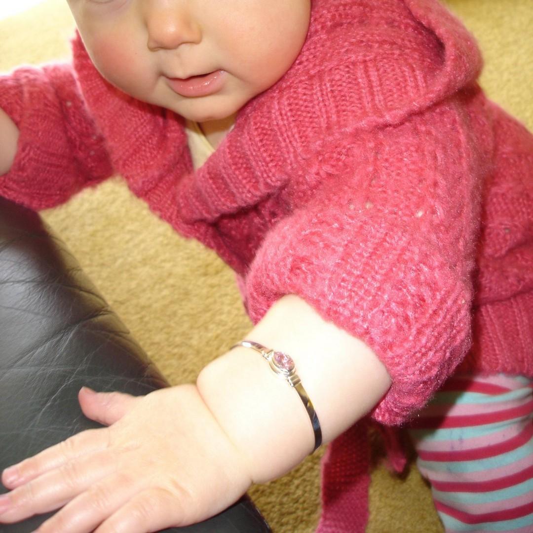Happy Birthday Miss October - birthstone baby bracelet image 4