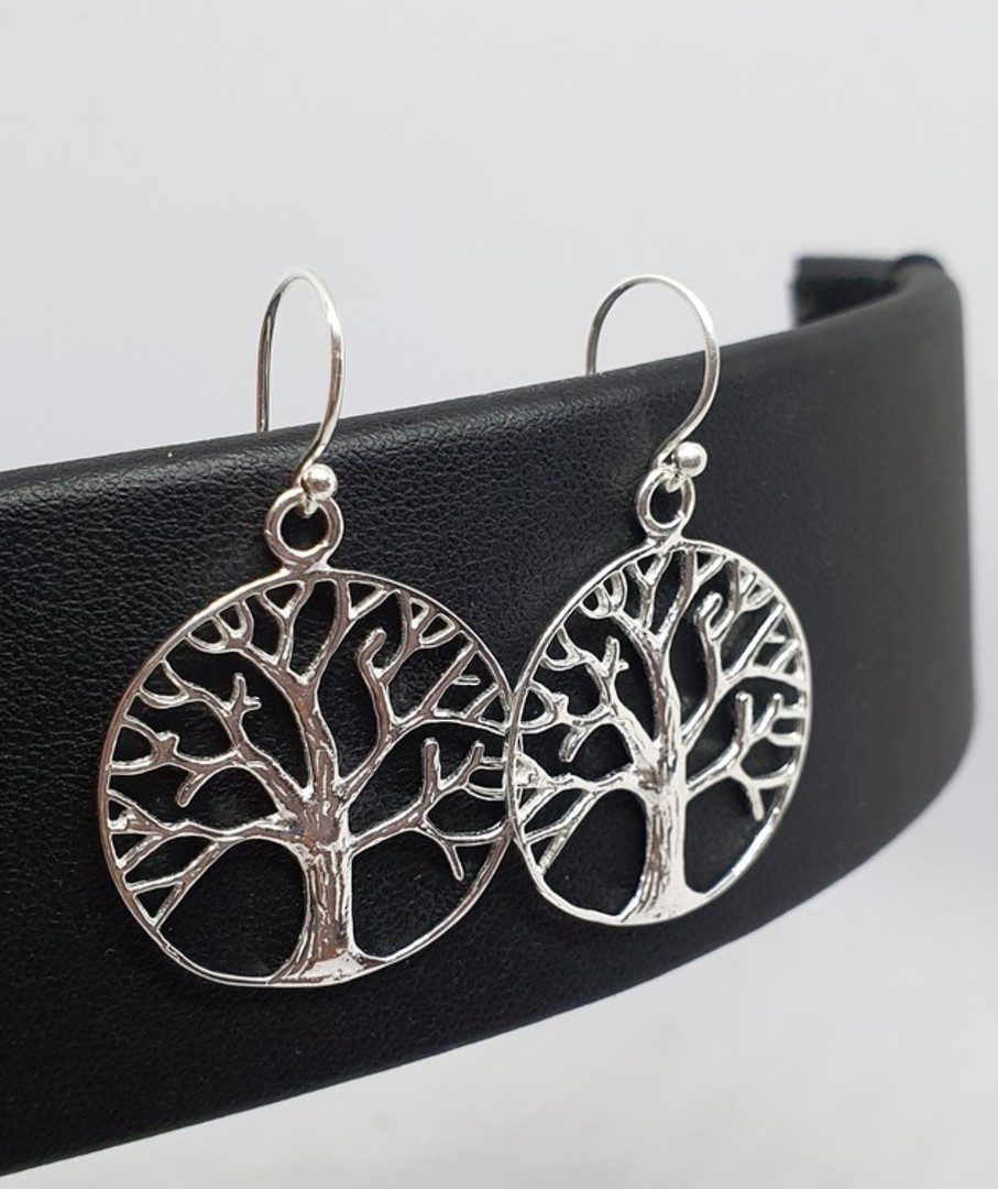 Sterling silver tree of life earrings image 1