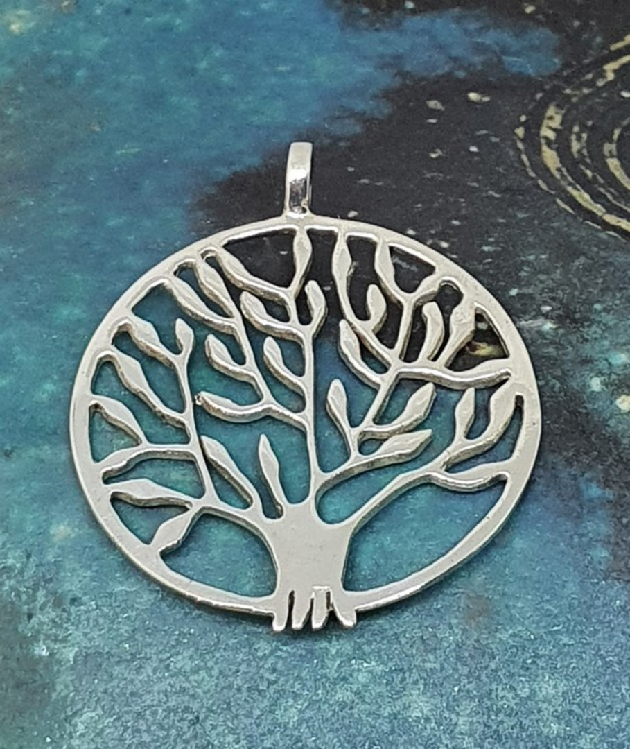 Sterling silver tree of life pendant image 0