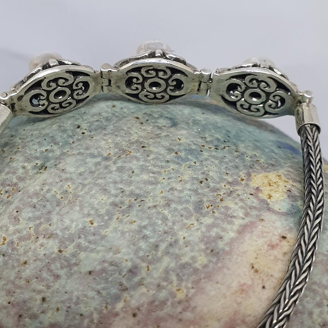 Delicate moonstone gemstone bracelet image 2