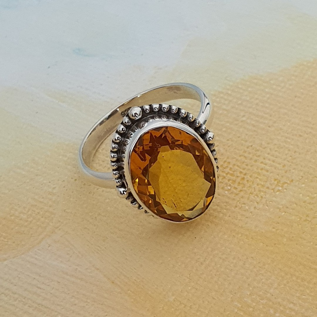 Stunning silver citrine ring image 4