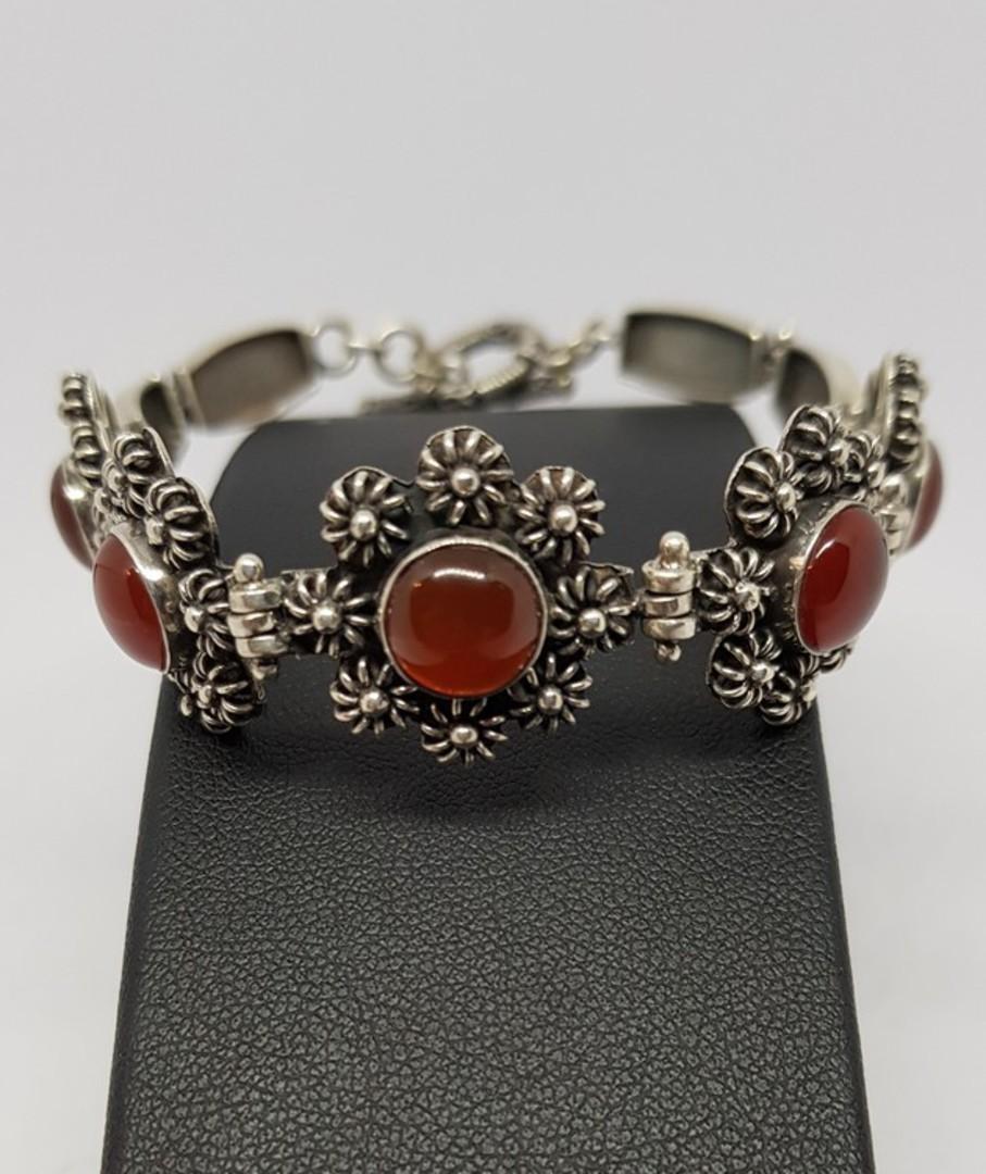 Sterling silver carnelian bracelet - price reduced image 0