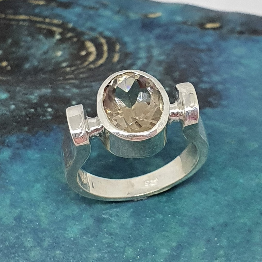 Sterling silver smoky quartz ring - made in NZ image 0