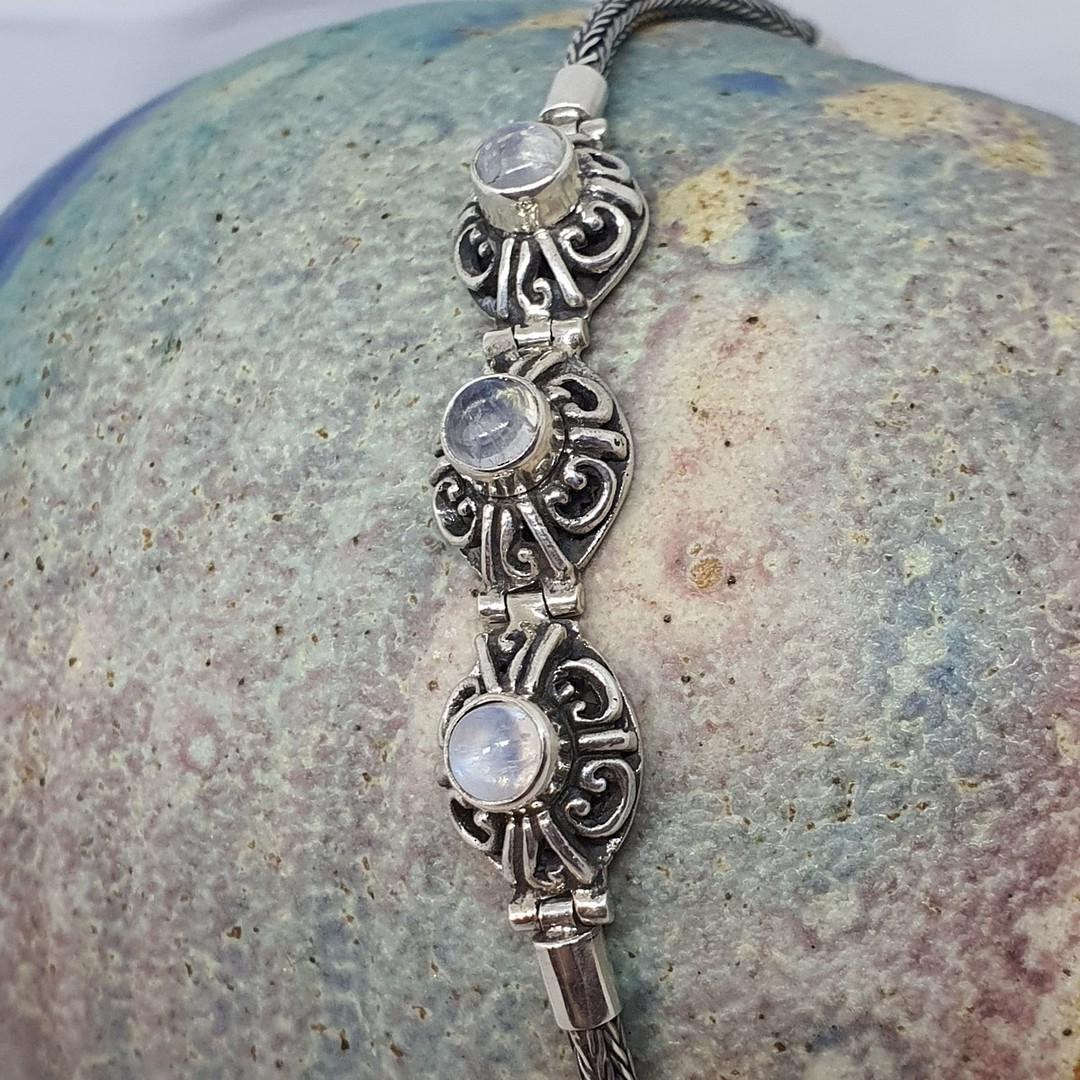 Delicate moonstone gemstone bracelet image 4