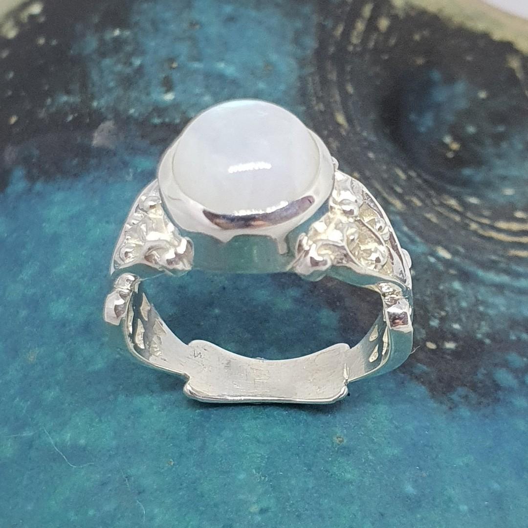 Sterling silver moonstone gemstone ring image 0