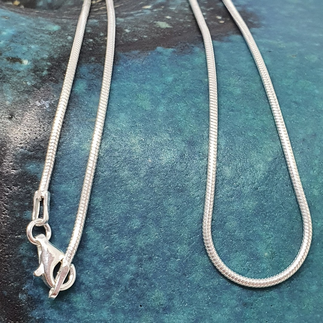 60cms Sterling silver snake chain image 3