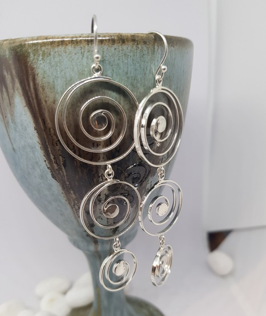 Cascading spirals of sterling silver image 2