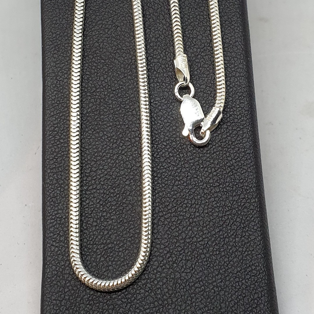 Sterling silver heavy snake chain, 50cms long image 3